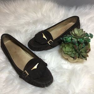 Tod's | Brown Suede Leather Driving Moccasin EU38